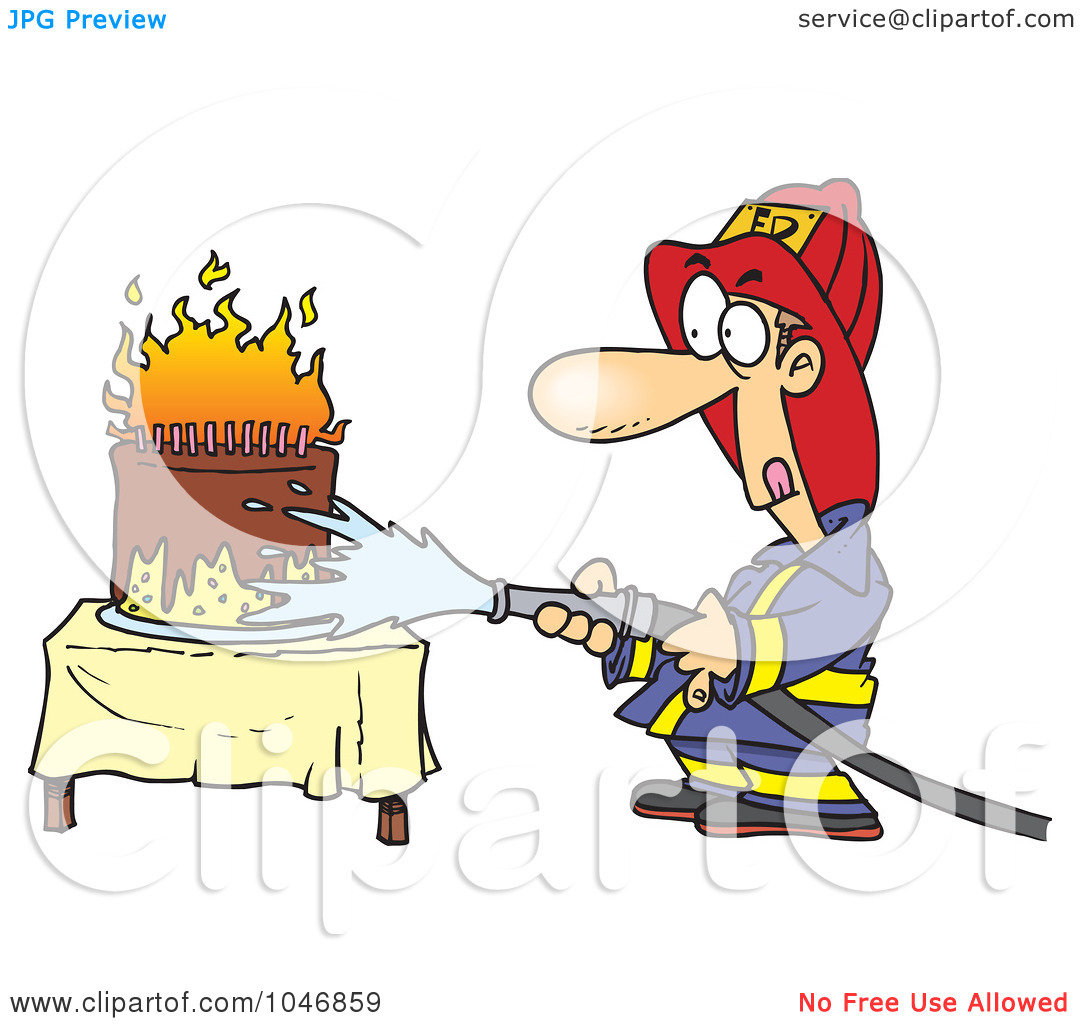 free animated happy birthday clipart ; fireman-birthday-clipart-1