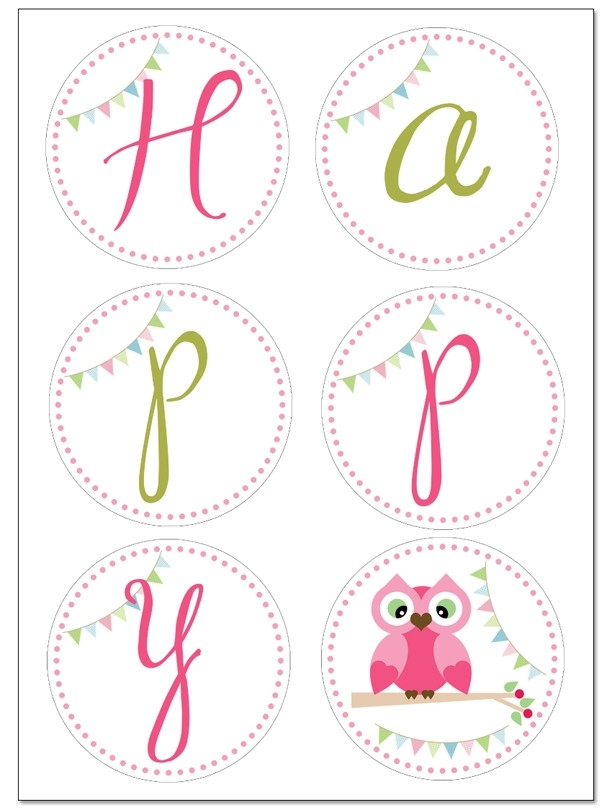 free birthday banner template printable ; owl-themed-birthday-party-with-free-printables-how-to-nest-for-less-pertaining-to-circle-birthday-banner-template