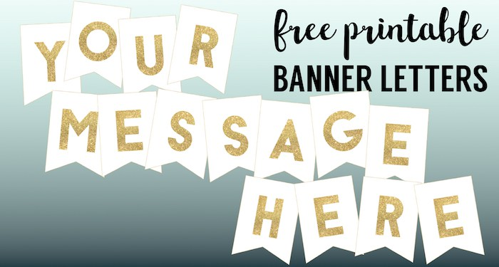 free birthday banners personalized with photo ; Gold-banner-letters-short