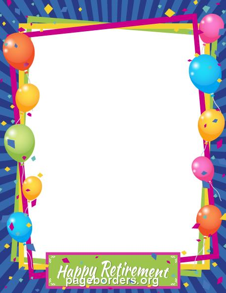 free birthday border templates for microsoft word ; happy-retirement-border-preview