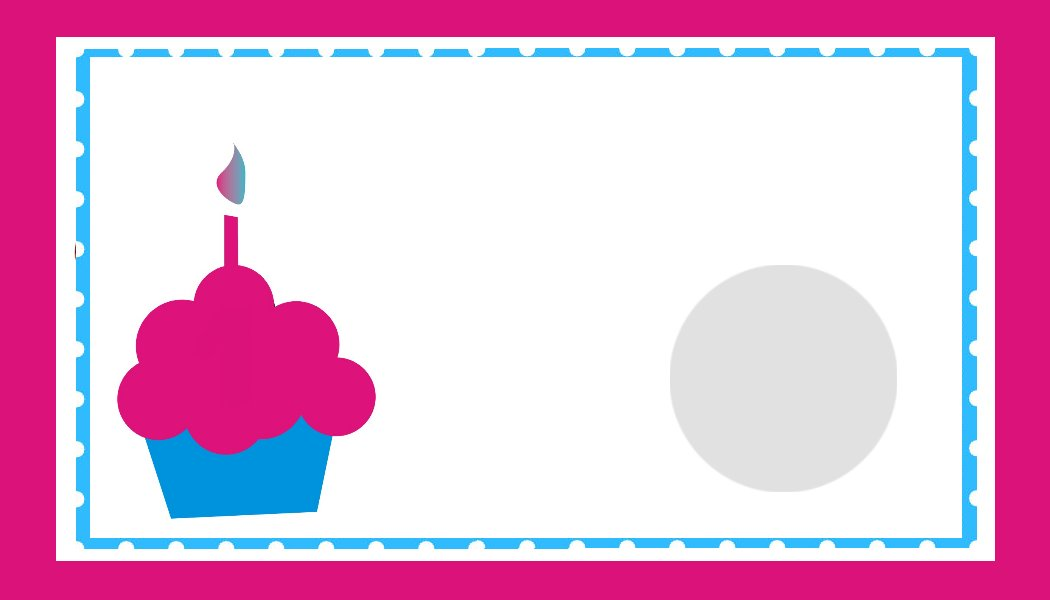 free birthday border templates for microsoft word ; print-a-birthday-card-template-cupcake-image-purple-blue-with-borders-or-frames-simple-layout-white-birthday-card-templates