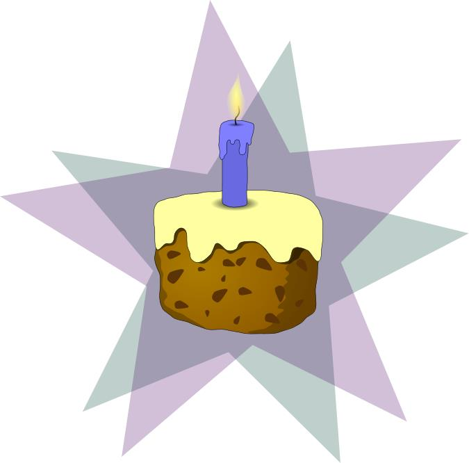 free birthday celebration clipart ; cake_and_candle