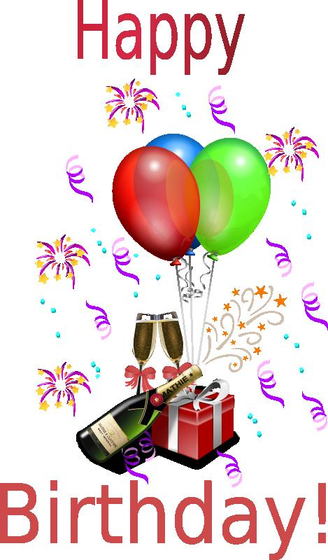 free birthday clipart images ; champagne-birthday