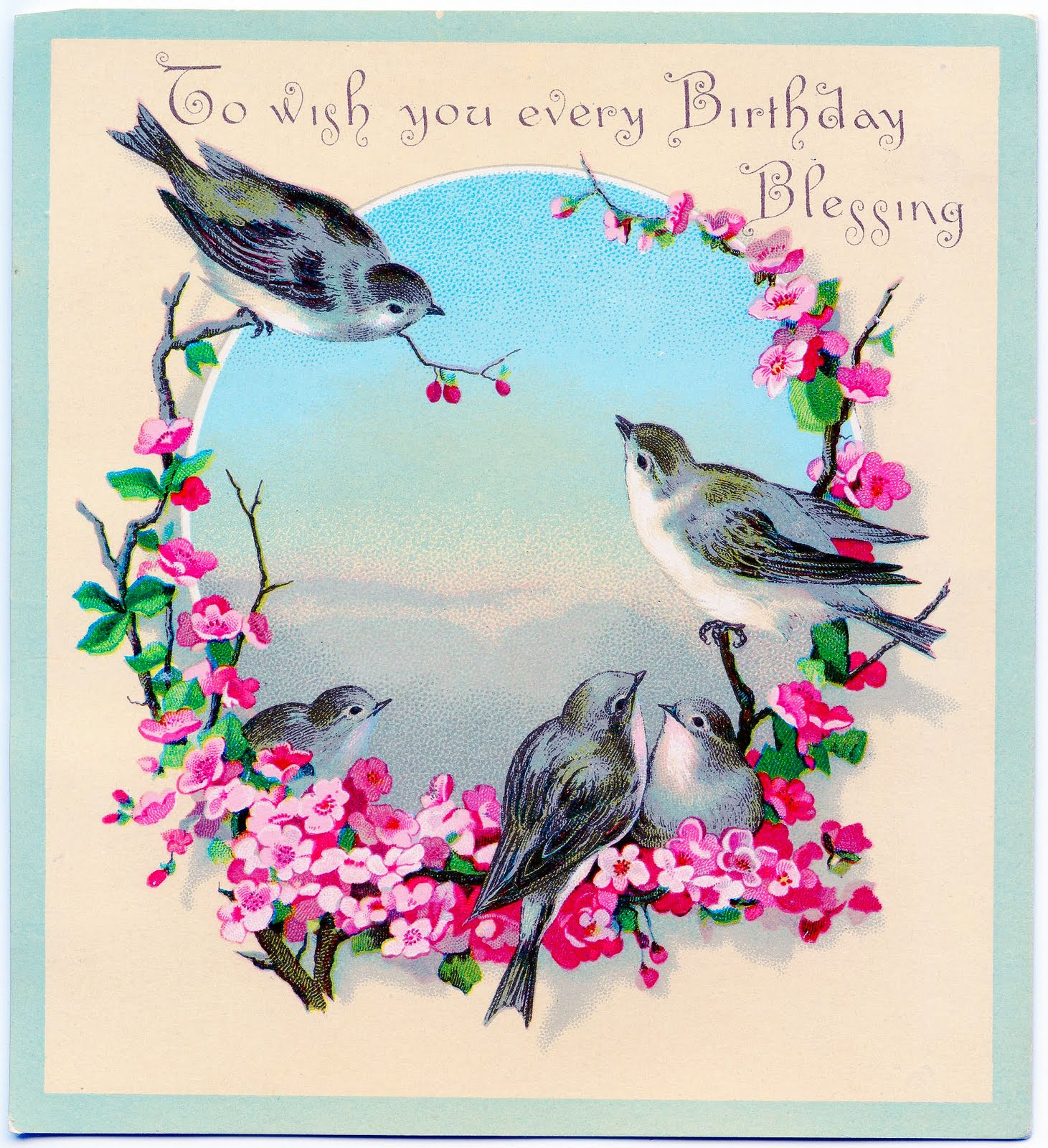 free birthday clipart images ; vintage-bday-greeting