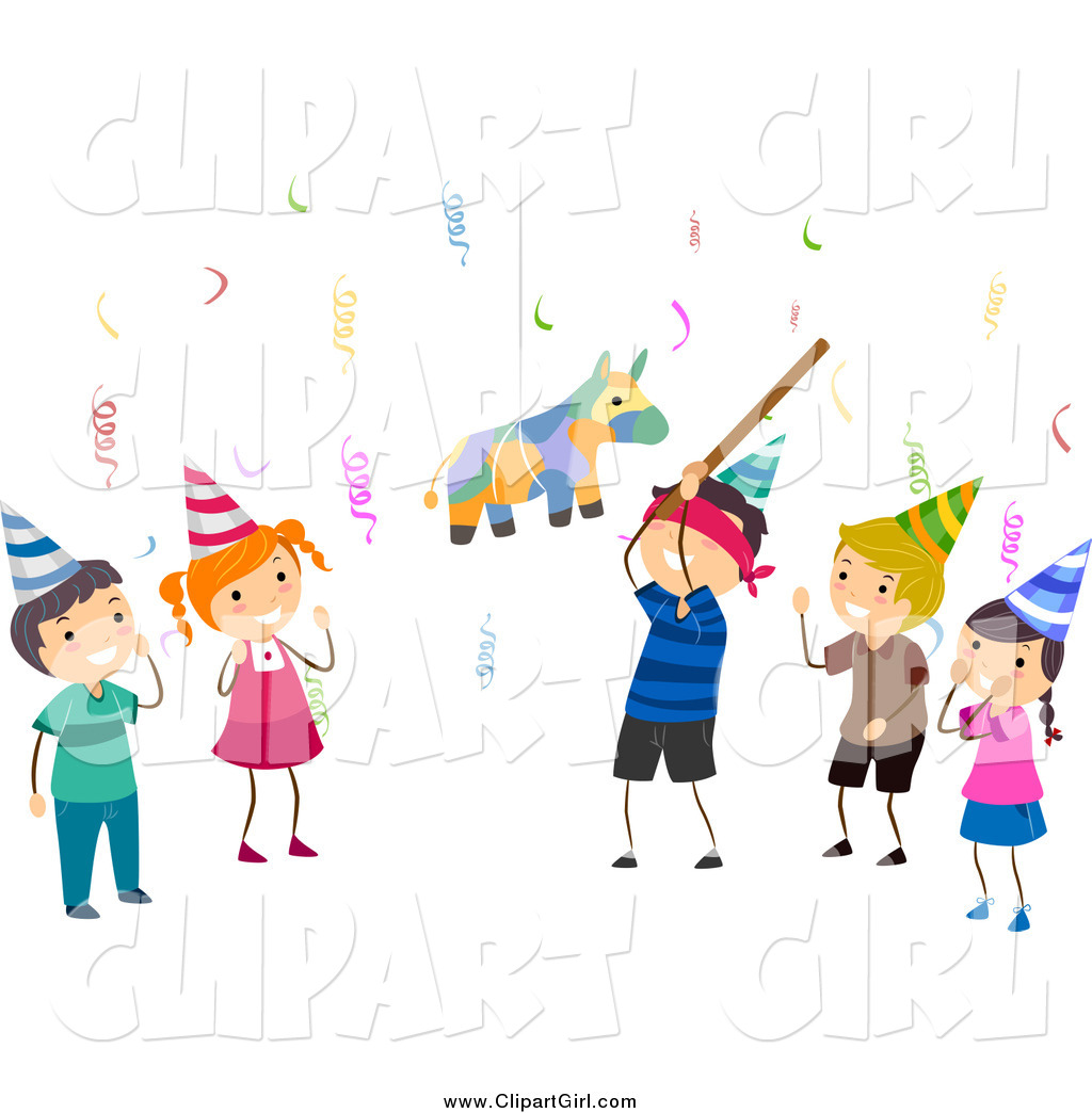free birthday girl clipart ; clip-art-of-birthday-kids-and-a-pinata-by-bnp-design-studio-4570