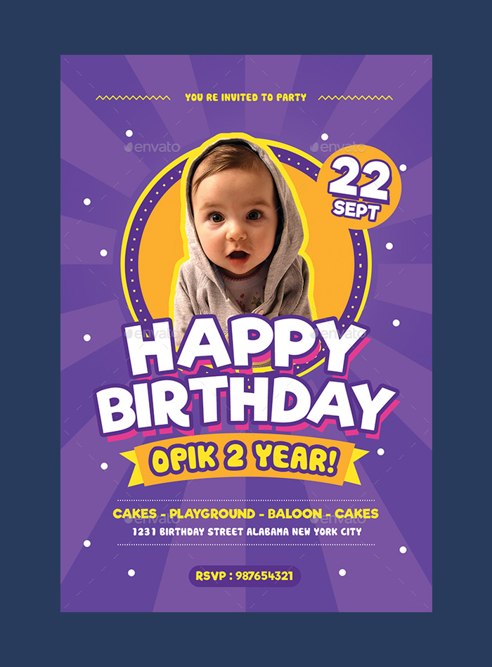 free birthday invitation templates photoshop ; Kids-Birthday-Invitation-Colorful-Template-for-Download