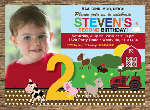 free birthday invitation templates photoshop ; Kids-Birthday-Invitation-Farm-Animals-