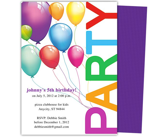 free birthday party invitation templates with photo ; free-boy-birthday-invitation-templates-23-best-kids-birthday-party-kids-party-invitations-templates