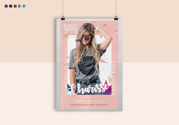 free birthday poster template ; Birthday-Poster-Template