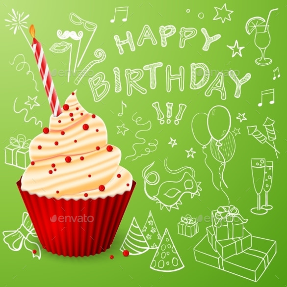 free birthday poster template ; Frosted-Birthday-Sample-Poster-Template