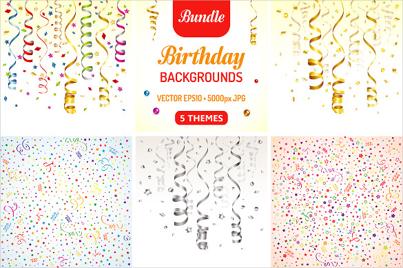 free birthday poster template ; Ribbon-Birthday-Poster-Template