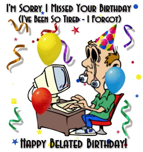 free clipart belated birthday wishes ; bfc6cd3184cad7f9164e3b81393a2792--belated-birthday-your-birthday