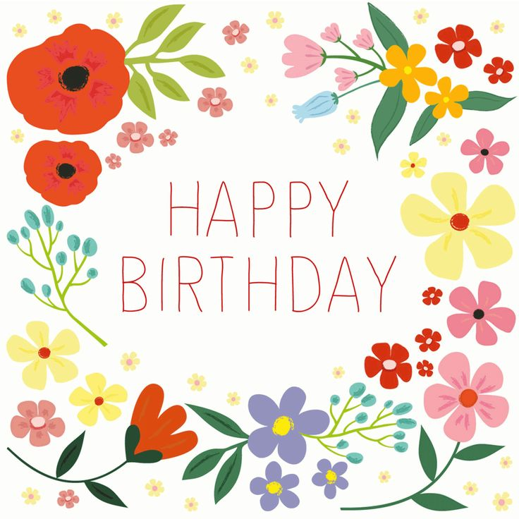 free clipart birthday flowers ; elower-clipart-birthday-pencil-and-in-color-with-flowers