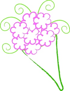 free clipart birthday flowers ; flower_bouquet_for_a_birthday_0515-1004-0904-0729_SMU