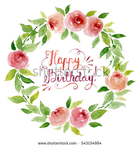 free clipart birthday flowers ; stock-photo-watercolor-floral-wreath-with-roses-and-happy-birthday-lettering-on-white-background-543154984