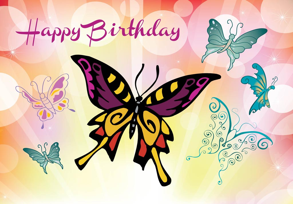 free clipart birthday wishes ; FreeVector-Happy-Birthday-Card-1