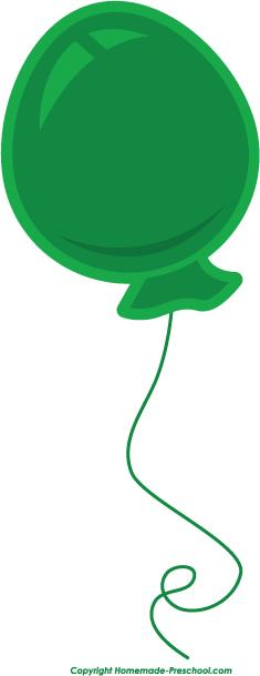 free clipart images birthday balloons ; balloon-green