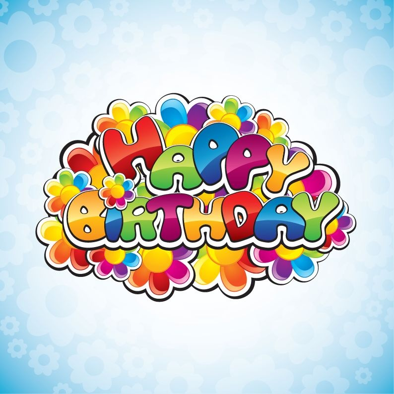 free happy birthday clipart graphics ; happybirthdayvectorillustration