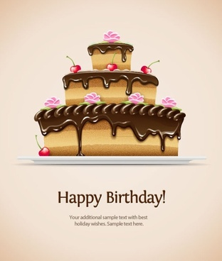 free happy birthday wishes images ; birthday_card_02_vector_181189