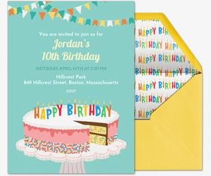 free online birthday invitation cards with photo ; birthdaycakesprinklesinvite_birthday_forkids