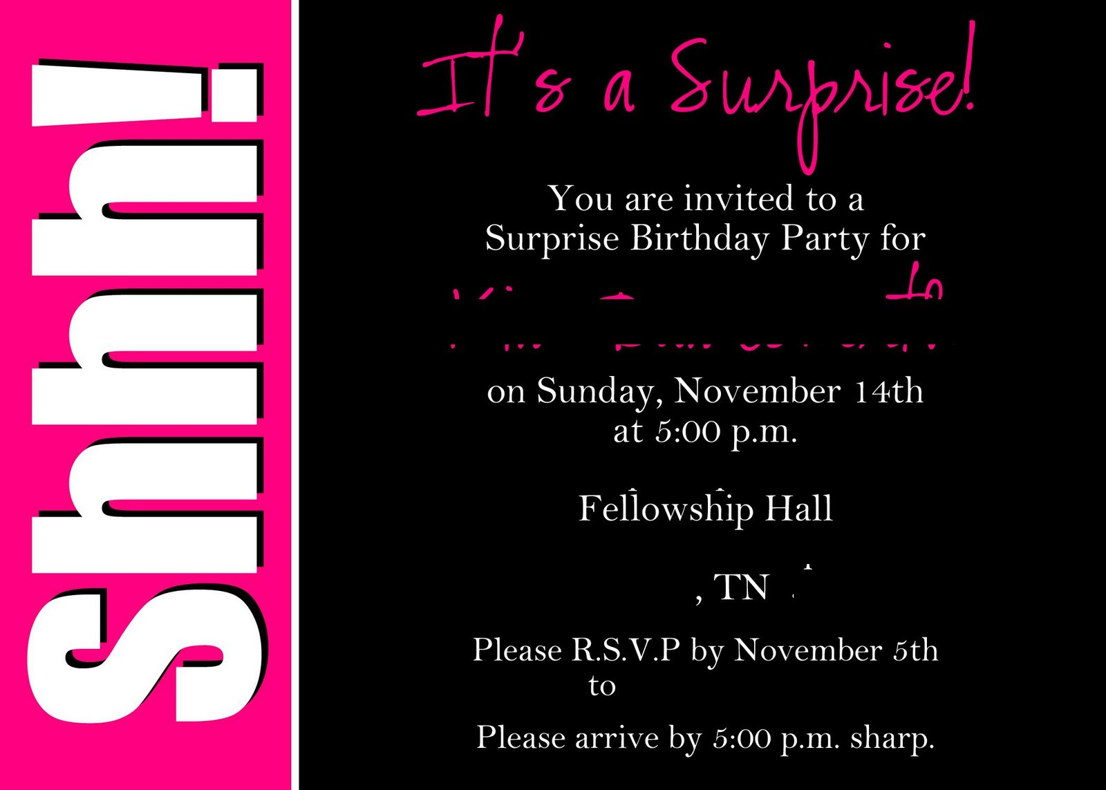 free printable 16th birthday party invitation templates ; 8_best_images_of_surprise_party_printable_invitation_templates_8