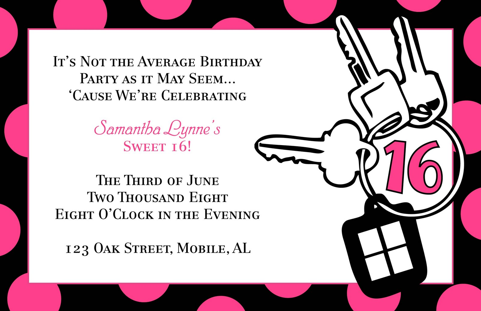 free printable 16th birthday party invitation templates ; Free-Templates-Sweet-Sixteen-Birthday-Invitation