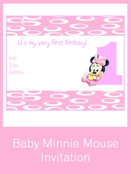 free printable 1st birthday invitation cards ; free-printable-minnie-mouse-1st-birthday-invitations-How-To-Make-Your-Own-Invitations-so-awesome-15