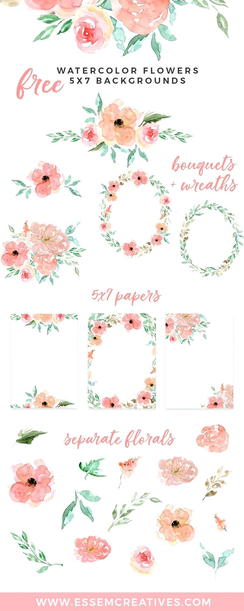 free printable birthday border paper ; birthday-border-paper-printable-free-watercolor-flowers-floral-wreaths-borders-backgrounds-use-these-digital
