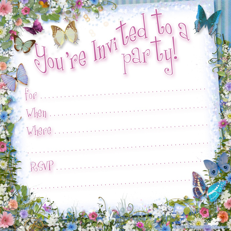 free printable birthday borders and frames ; birthday-party-invitation-templates-printable-free-floral-decoration-borders-frame-butterflies-birthday-card-invitation-template