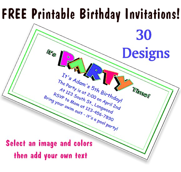 free printable birthday party invitations with photo ; free-printable-party-invitations