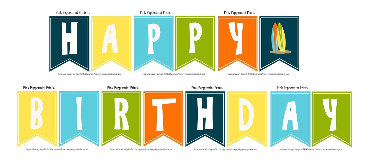 Free Printable Happy Birthday Banner Templates Best Happy Birthday Wishes