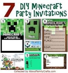 free printable minecraft birthday party invitations templates ; 9a358bd6f876f46e53ab6ae29dc788ea--minecraft-party-invitations-minecraft-birthday-party
