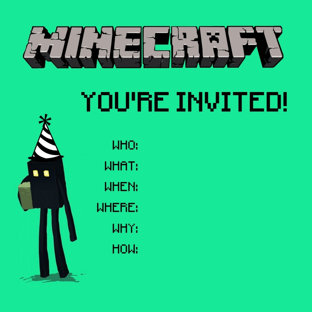 free printable minecraft birthday party invitations templates ; Awesome-Minecraft-Birthday-Party-Invitations-To-Design-Birthday-Invitation-Cards