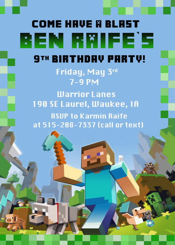 free printable minecraft birthday party invitations templates ; free-printable-minecraft-birthday-invitations-free-printable-minecraft-birthday-invitation-template