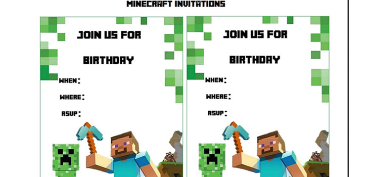 free printable minecraft birthday party invitations templates ; minecraft-birthday-invitations-free-template-minecraft-birthday-party-invitations-templates-cimvitation-download