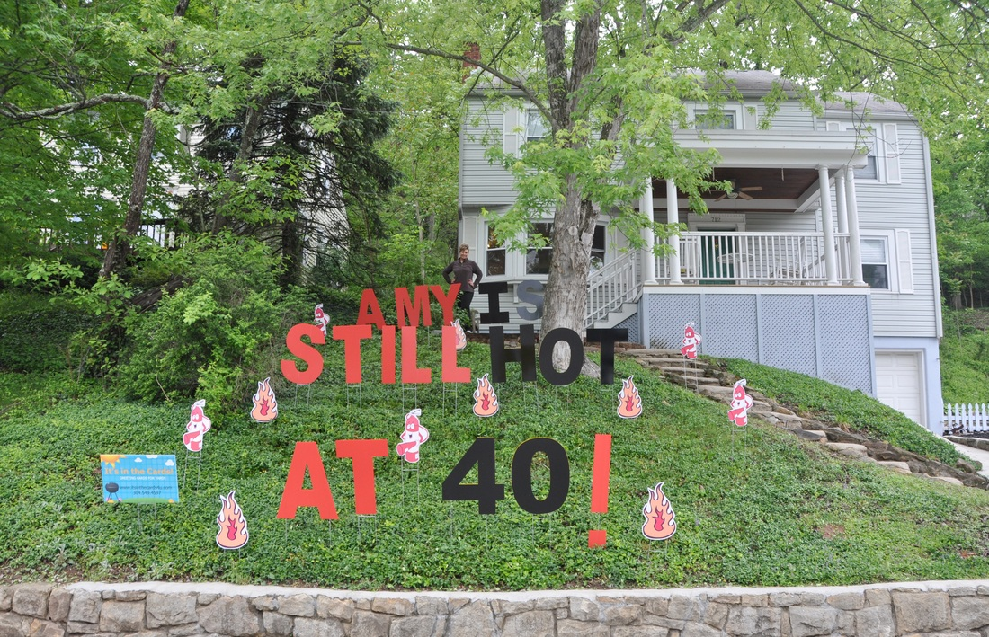 Front Yard Happy Birthday Signs Best Wishes