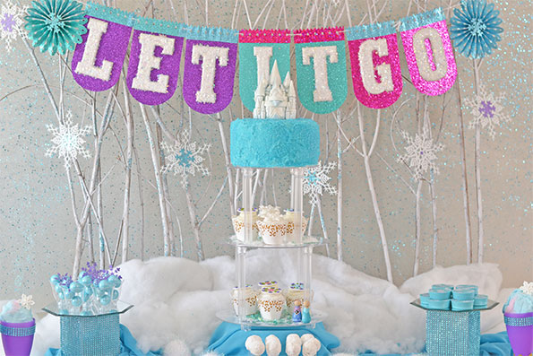 frozen themed birthday banner ; Frozen-party-tablescape-hero