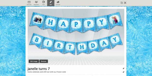 frozen themed birthday banner ; Frozen_event_page