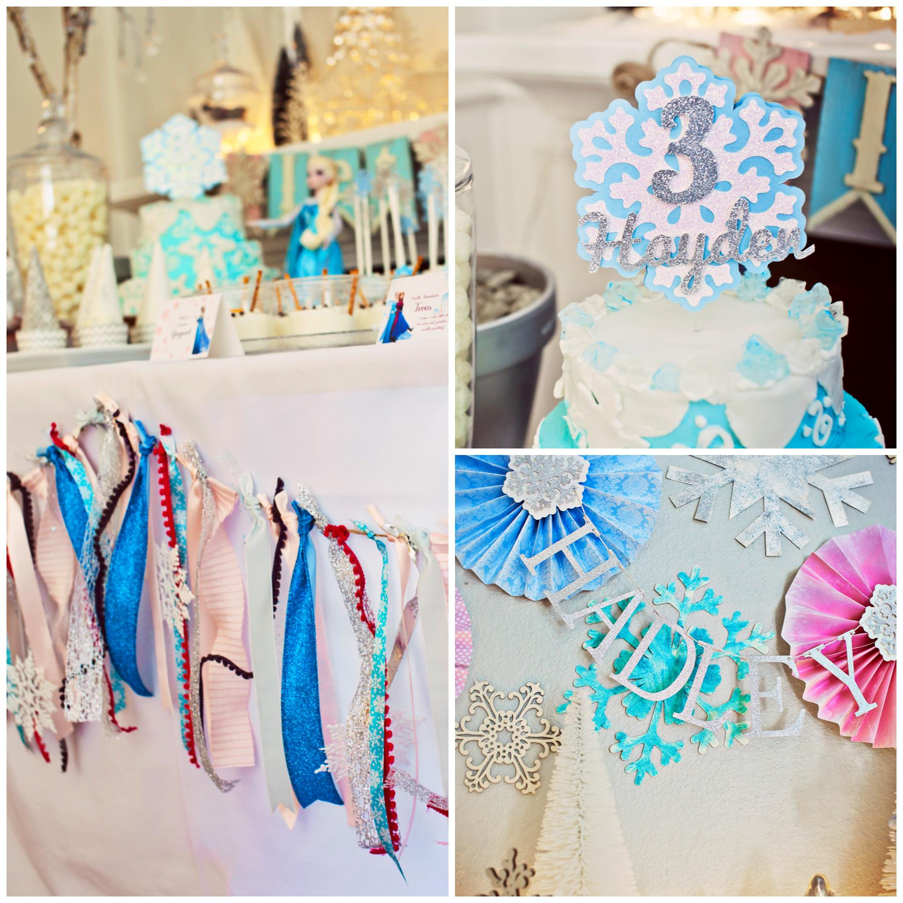 frozen themed birthday banner ; frozen-party-decorations-1