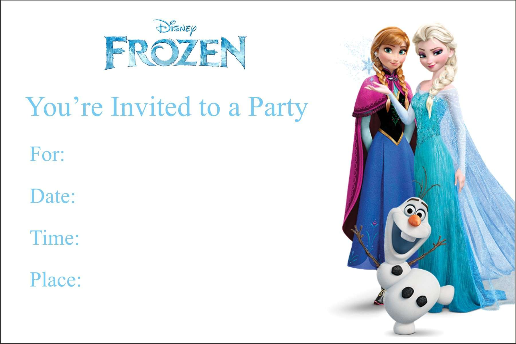 frozen themed birthday invitation cards ; Frozen-Birthday-Card-Template-and-get-inspired-to-create-your-own-birthday-Card-design-with-this-ideas-1