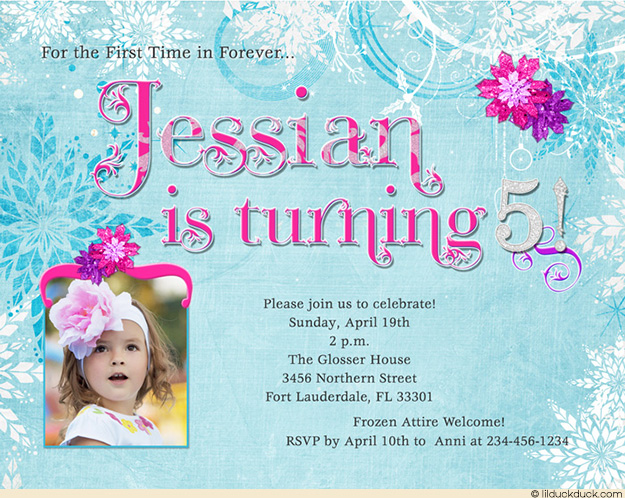 frozen themed birthday invitation wording ; 5th-birthday-party-invitation-wording-blue-frost-princess-invitation-iced-birthday-party-ideas