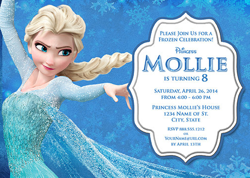 frozen themed birthday invitation wording ; Elsa-Frozen-Birthday-Party-Invitation-Ideas-wording