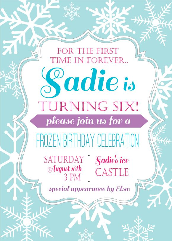 frozen themed birthday invitation wording ; frozen-party-invitation-wording-25-unique-frozen-birthday-invitations-ideas-on-pinterest-elsa-template