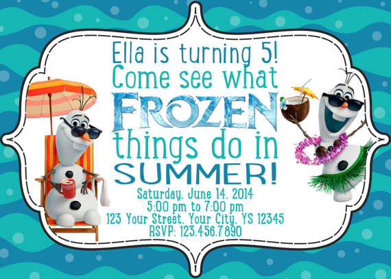 frozen themed birthday invitation wording ; invite
