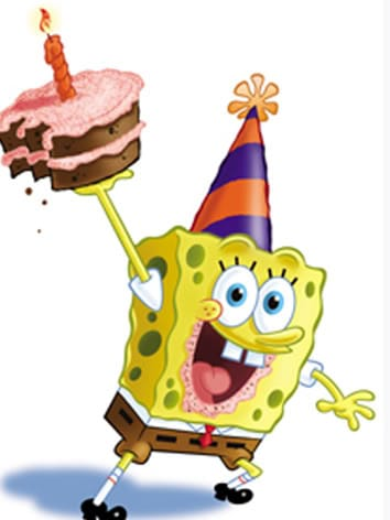 funny birthday clipart pictures ; spongebob-happy-birthday-clipart-1-min