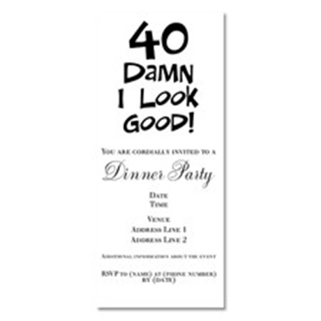 Funny Birthday Party Invitation Quotes Wording Is