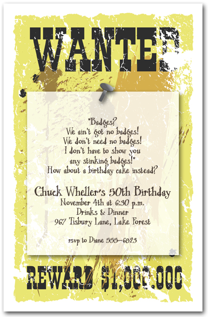 funny birthday party invitation quotes ; cowboy-invitation-wording-sheriffs-wanted-poster-invitations-western-invitations