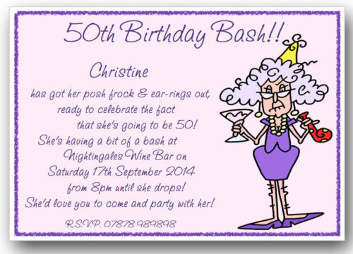 Funny Birthday Party Invitation Quotes 50th Invitations