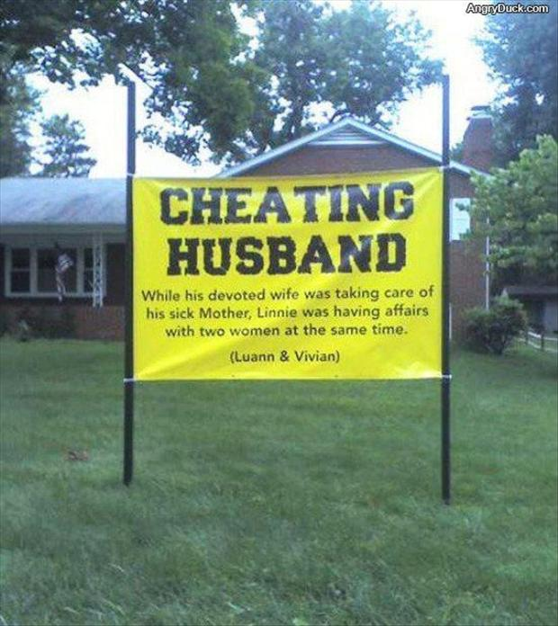 funny birthday signs ; cheating-husband-funny-signs