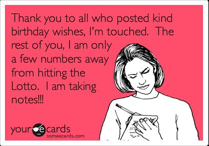 funny thank you message for birthday wishes on facebook ; 38556bd8e520dbc3676a846ffd28a1b0